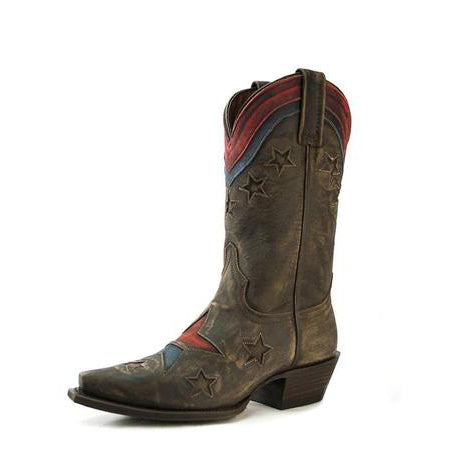 Redneck Riviera Women's Betsy Patriotic Cowgirl Boot - Vintage Cinnamon - French's Boots