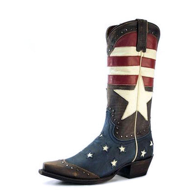 Redneck Riviera Women's Freedom Boot Vintage Cinnamon Short Heel - French's Boots