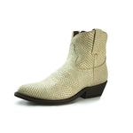 Redneck Riviera Women's Western Zipper Shortie Boot – White Snake Print - French's Boots