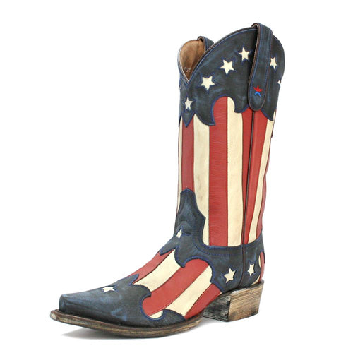 Redneck Riviera Men's Vintage Flag Snip Toe Boot