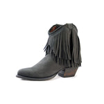 Redneck Riviera Women's Braided Fringe Shortie - Distressed Black - French's Boots