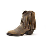 Redneck Riviera Women's Braided Fringe Shortie - Distressed Brown - French's Boots