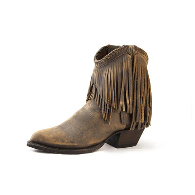Redneck Riviera Women's Braided Fringe Shortie - Distressed Brown