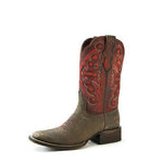 Redneck Riviera Women's Square Toe Boot – Red/Brown - French's Boots
