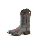 Redneck Riviera Men's Star Cowboy Boot – Distressed Grey