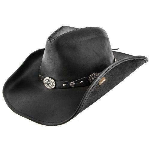 Stetson Men's Roxbury Leather Hat - Black