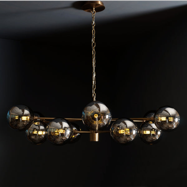 Karrington 12 Light Modern Sputnik Brass Chandelier