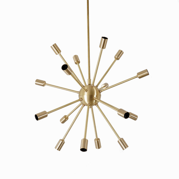 Modern Brass Round Sputnik Chandelier - Doozie Light Studio