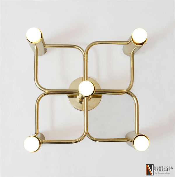 Contemporary Solid Brass Quin Wall Sconce Lamp Light Stairway Vanity Lamp