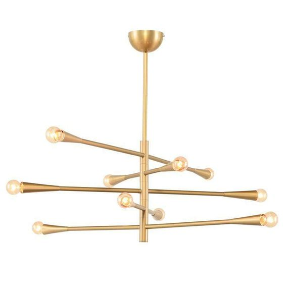 Modern Handcrafted Brass 10 Lights Orion Sputnik Chandelier