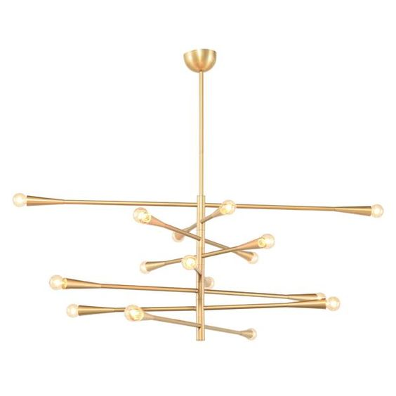 Modern Handcrafted Brass 16 Lights Orion Sputnik Chandelier