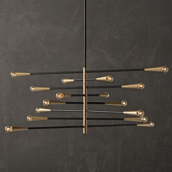 Modern Handcrafted Brass Orion Sputnik Chandelier