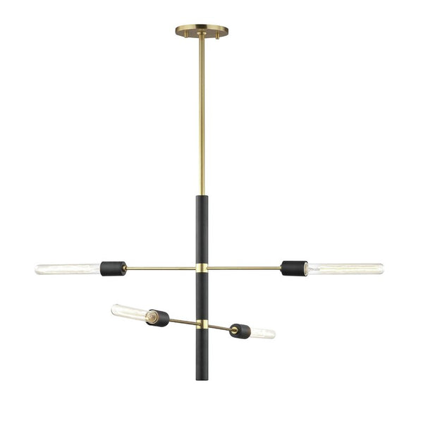 Candice 4-Light Sputnik Modern Linear Chandelier