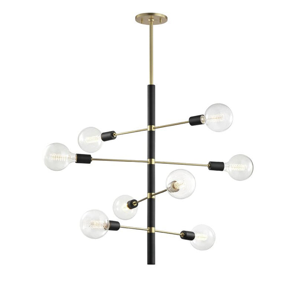 Candice 8-Light Sputnik Modern Linear Chandelier