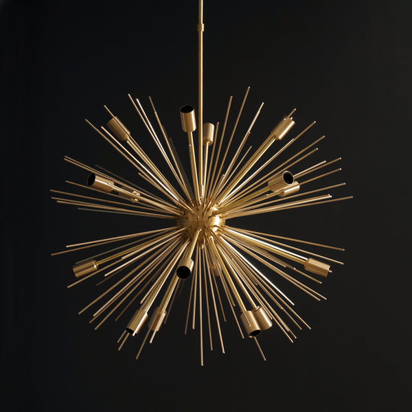 "16 Lights Modern Brass Sputnik Urchin Chandelier Light Fixture 22""D"
