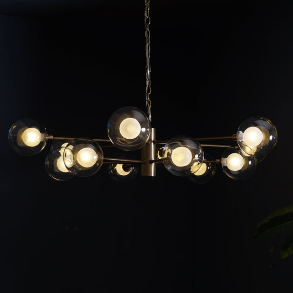 Karrington 12 Light Modern Brass Sputnik Chandelier Fixture