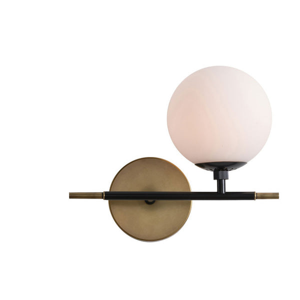 Modern Brass Glass Globe Wall Sconce Vanity Light - Doozie Light Studio
