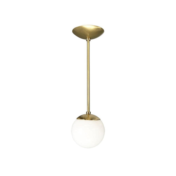 "Glass Globe Pendant 6"" - Doozie Light Studio"