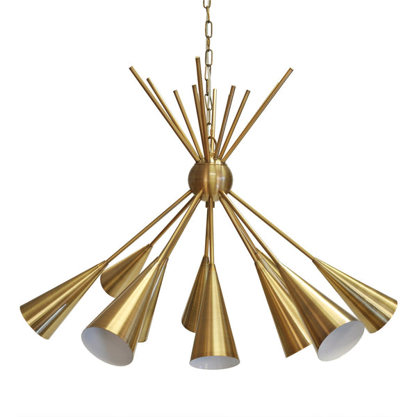 Modern Handmade Garland Sputnik Brass Chandelier - Brushed Brass