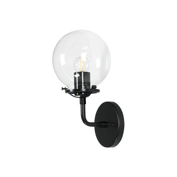 Modern Brass Globe Wall Sconce - Doozie Light Studio
