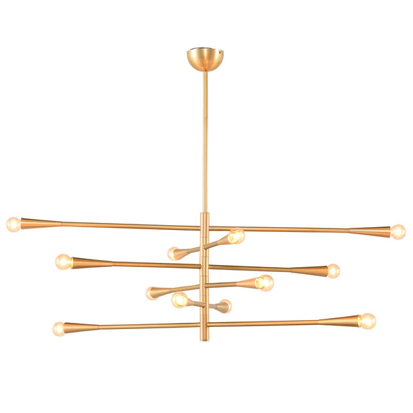 Modern Handcrafted Brass 12 Lights Orion Sputnik Chandelier