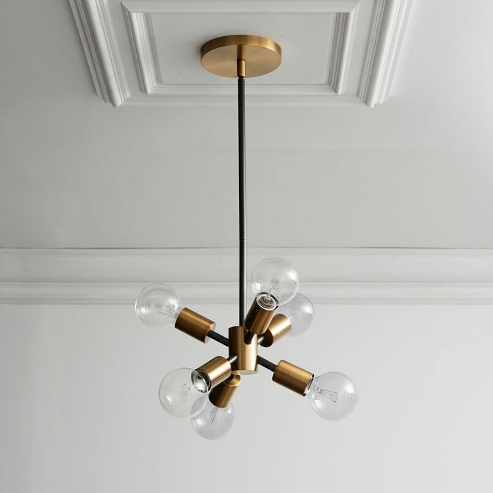Modern brass Sputnik Mobile Chandelier - Doozie Light Studio