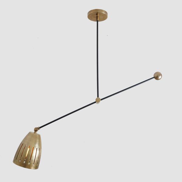 Modern Brass Counter Balance Pendant Lamp