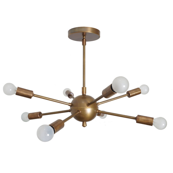 Brass Sputnik Chandelier 8 Light Sputnik Pendant Light