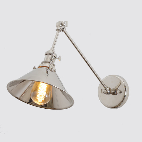 Industrial Articulating Brass Wall Lamp