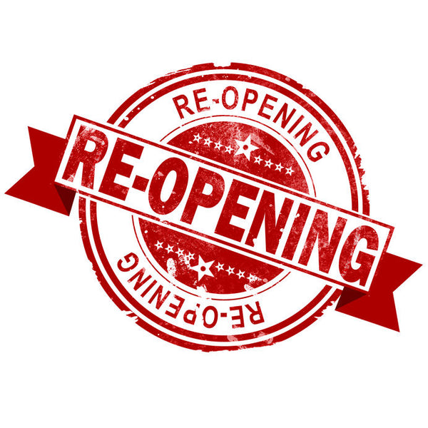 Reopening on Tuesday June 16th