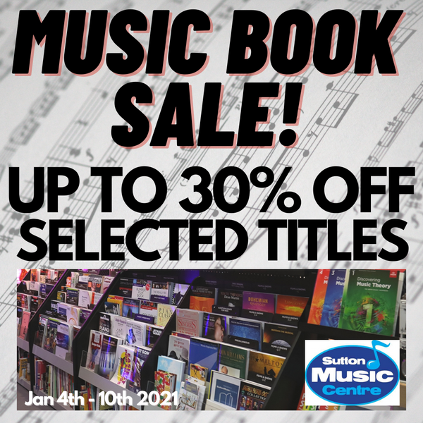 Huge Sheet Music sale - nearly 2000 books with 30% OFF!