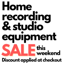 Home Recording and Studio Equipment SALE! Jan 22nd-24th.