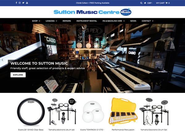 New Sutton Music Centre Website