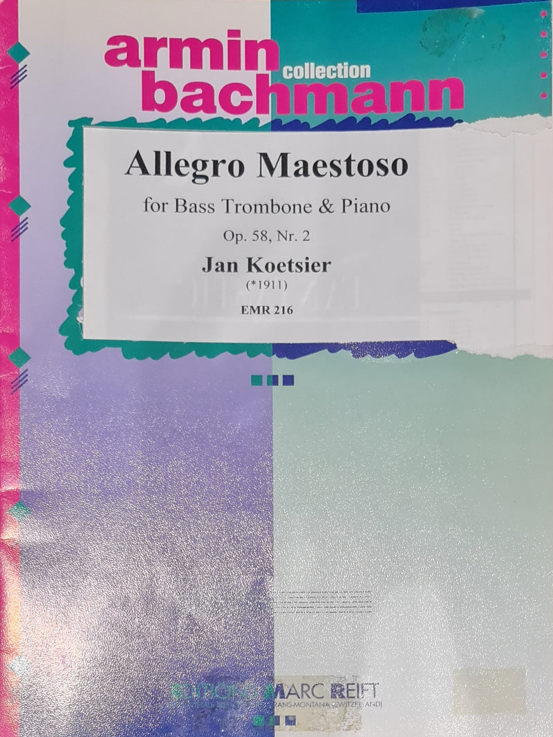 Allegro Maestoso (for Bass Trombone and Piano)