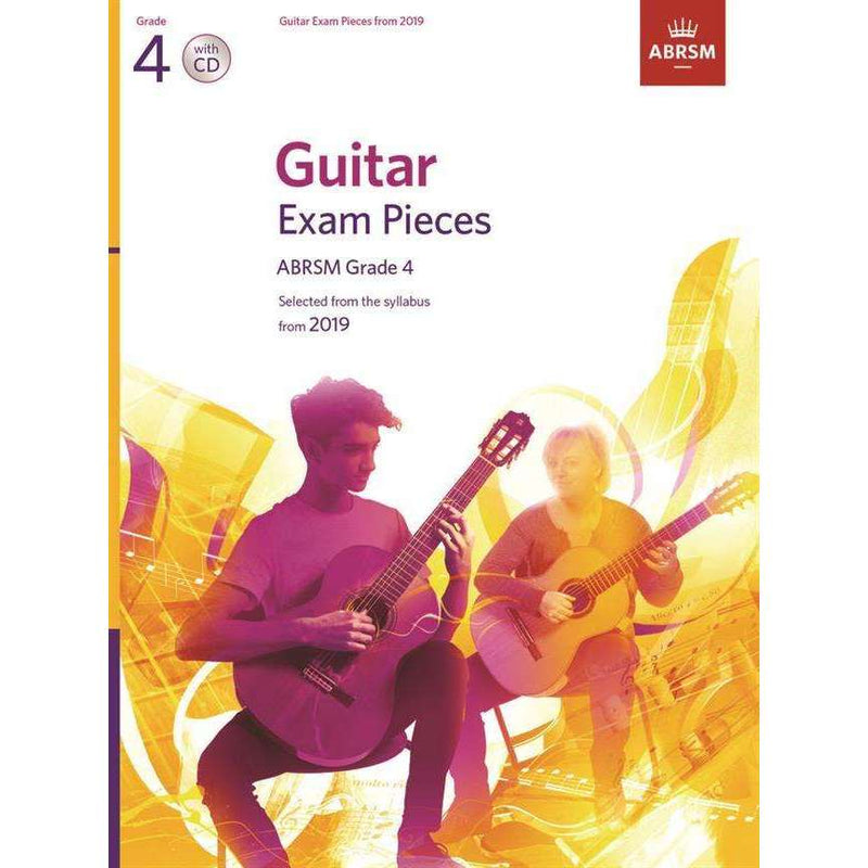 ABRSM Guitar Exam Pieces from 2019 Including CD Grade 4