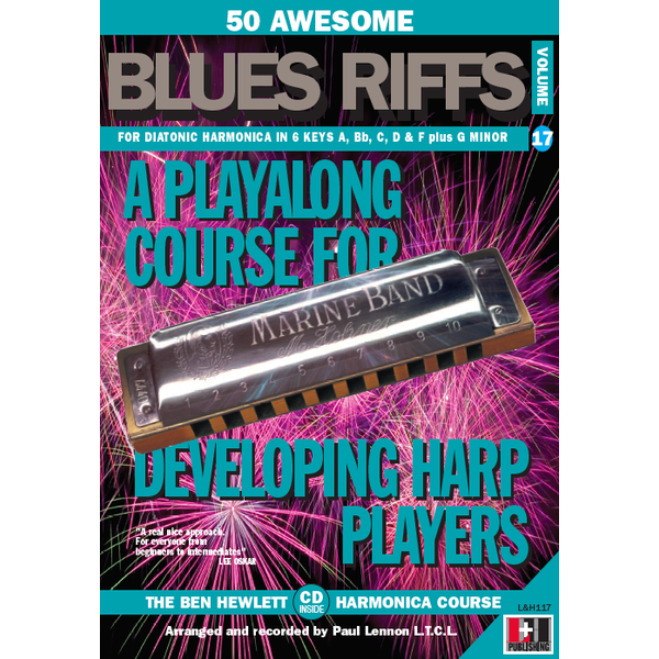 50 Awesome Blues Riffs volume 17 for Harmonica