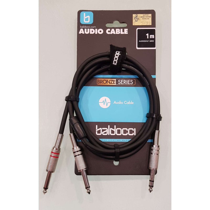 Baldocci 'Bronze Series' 1x Stereo Jack to 2x Male Jack Audio Cable