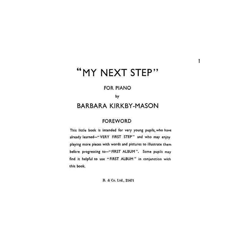 Barbara Kirkby-Mason - My Next Step for Piano.