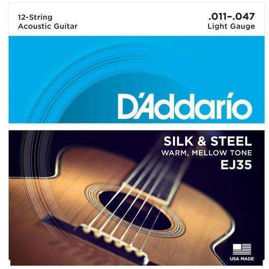 D'Addario - Silk & Steel (11 to 47) 12 String Acoustic Set