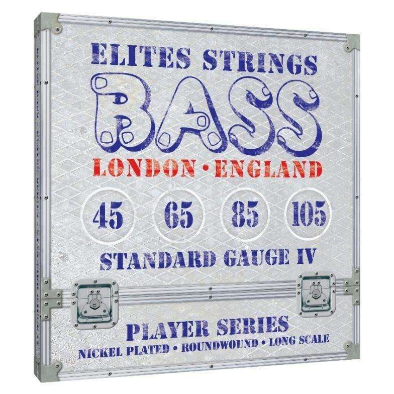 Elites Bass Strings Set Nickel Plated Roundwound