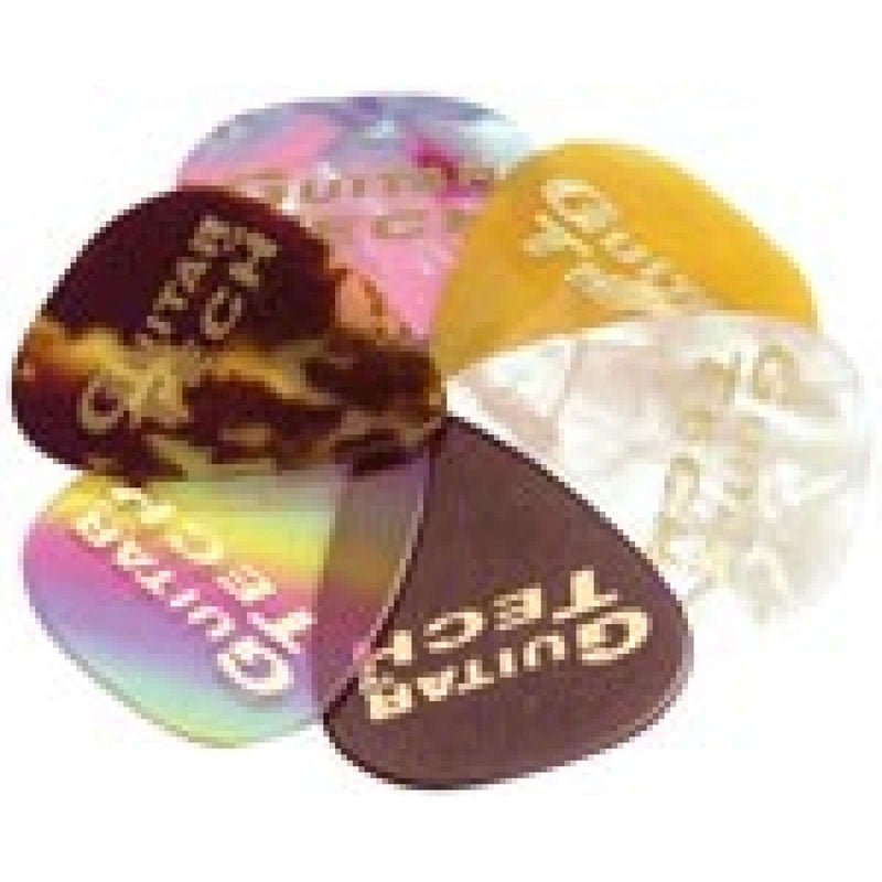 Guitar Tech  Plectrum GT101 Assorted Triangular Celluloid. 0.7mm.  Pack o