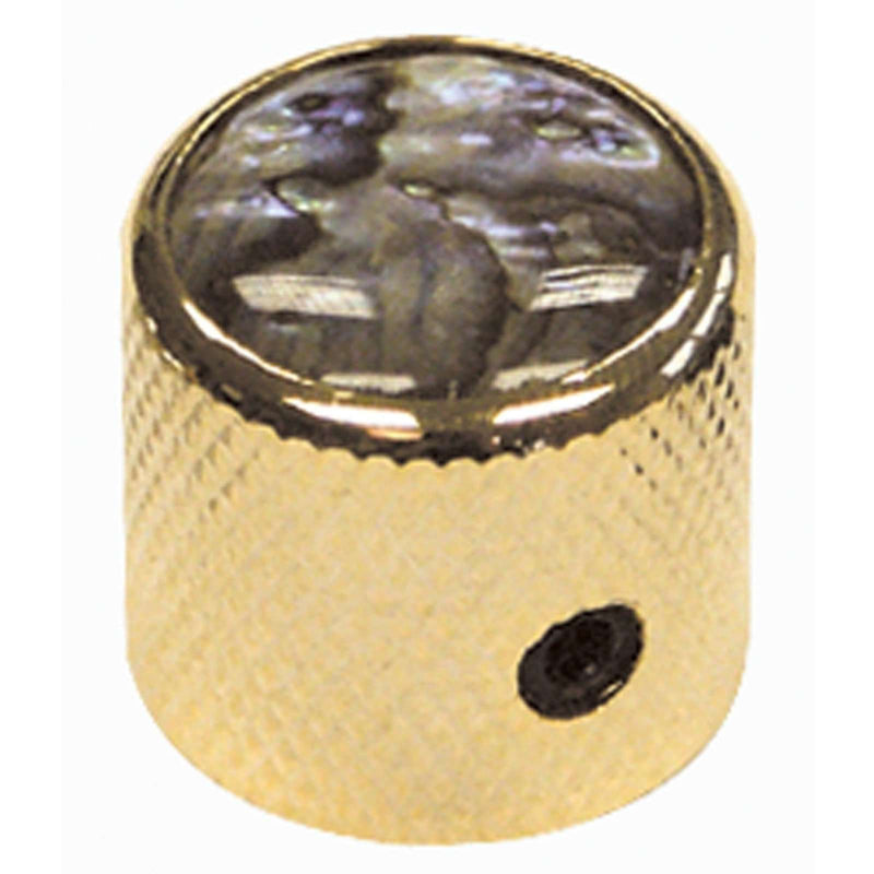 Guitar Tech Dome Knobs  GT842 Gold/Abalone Top.  Pkt of 2.