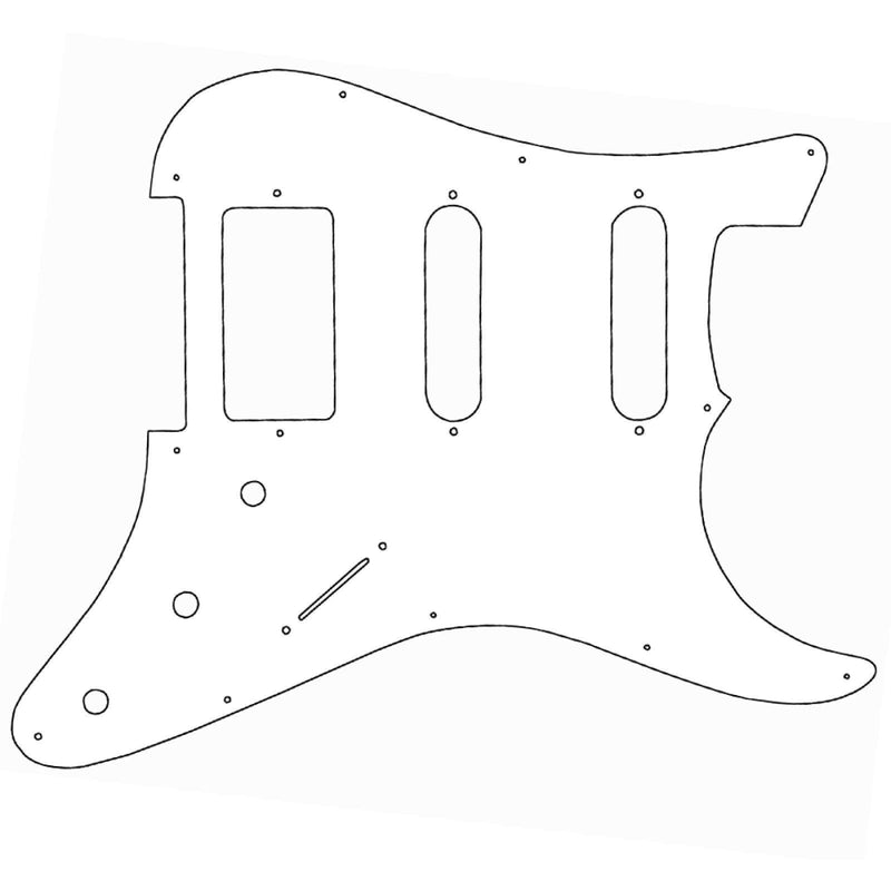 Guitar Tech Humbucker/Single Coil  GT836  Scratchplate. 3ply White.