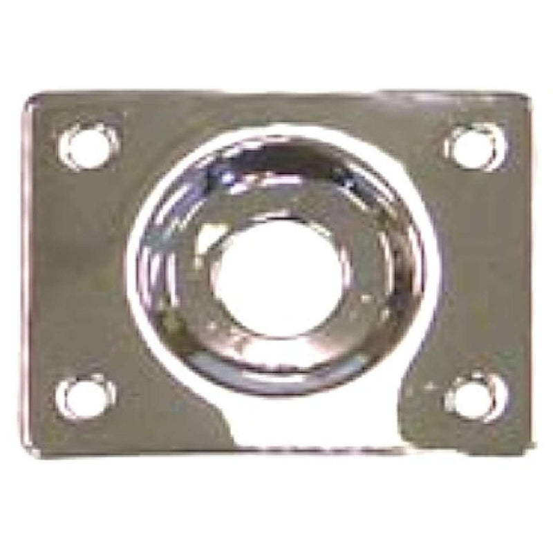 Guitar Tech Jack Socket Plate.  GT550 Chrome, Square