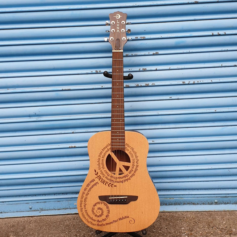 Luna - Safari 'Peace' Travel size guitar
