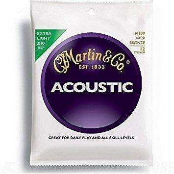 Martin Acoustic 12 String Set (80/20 Bronze)