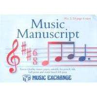 Music Exchange Music Manuscript Book; 6 stave - 24 pages