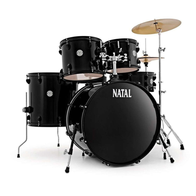 Natal EVO 20 Fusion Drum Kit with Hardware & Cymbals, Black