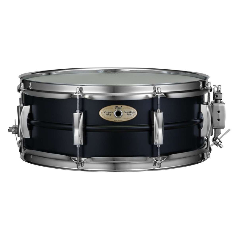 Pearl Sensitone 14″ x 5.5″ Steel Snare Drum in Black Limited Edition