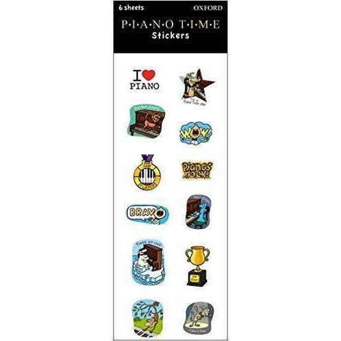 Piano Time Stickers (6 Sheets)